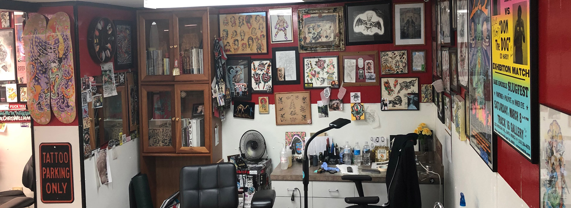 ElectroMagnetic Tattoo - inside the traditional tattoo shop